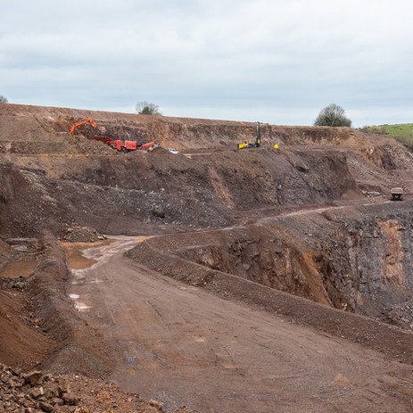 Commercial photography in a Somerset quarry
