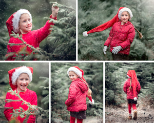 Girls in forest, by Somerset family photographer Sarah Gibson