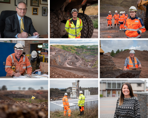 Commercial photography at Wainwright quarry, by Somerset photographer Sarah Gibson
