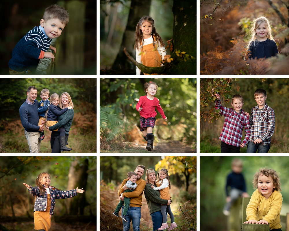 Autumn family photographs, by Somerset family photographer Sarah Gibson