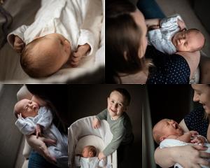 Natural newborn photographs, by Somerset newborn photographer Sarah Gibson