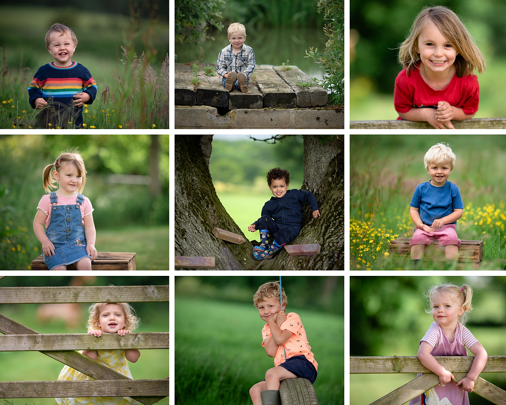 Children playing outdoors - nursery photography by Somerset photographer Sarah Gibson