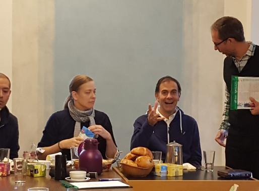 Juan Manuel Cotelo, director de cine católico visita Schoenstatt  y desayuna en Casa de Alianza