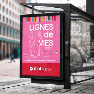 MOBIUS AFFICHE LIGNES DE VIES
