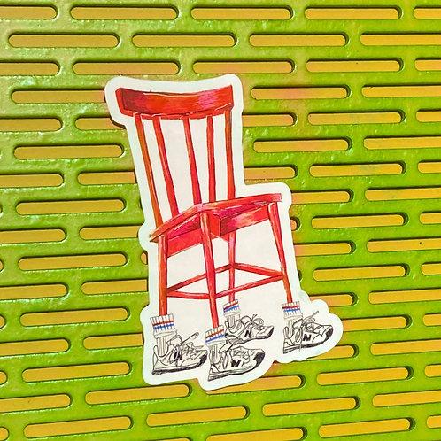 Shoe Chair Sticker