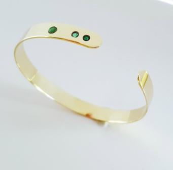 Brățară din aur 14k și smaralde