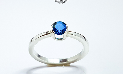 Inel cu Topaz Blue Blood Split Setting