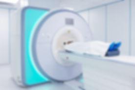 Female patient undergoing MRI - Magnetic