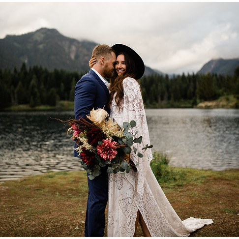 Styled Elopement- Gold Creek Pond