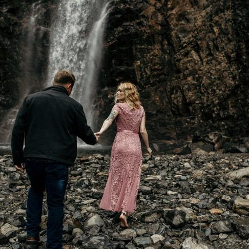 Jen and Wes Franklin Falls