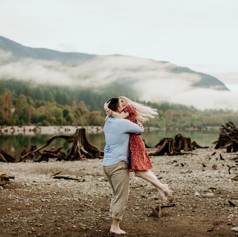 Morgan and Steven's Engagement- Rattlesnake Lake