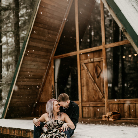 Meagan and Dillion- Cabin in the woods. Mount Rainier.