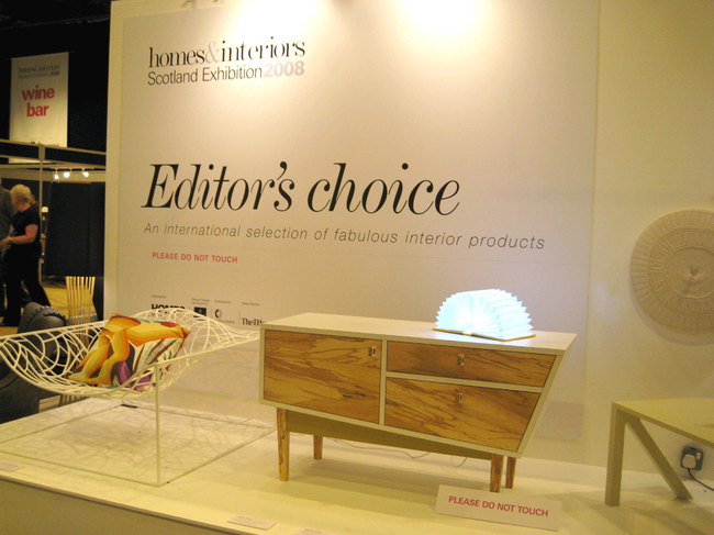 the Book Light at Homes & Interior 2008