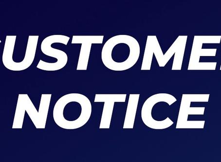 Customer Notice - Office Re-opens
