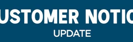 Customer Notice Update