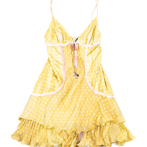 CAVALLI yellow dress