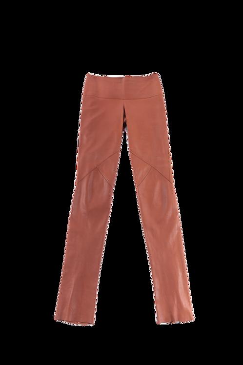 HERMES leather pants