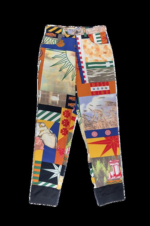 MOSCHINO crazy prints pants