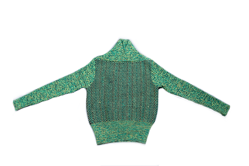 YSL green wool sweater