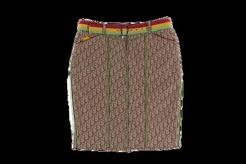 DIOR rasta skirt