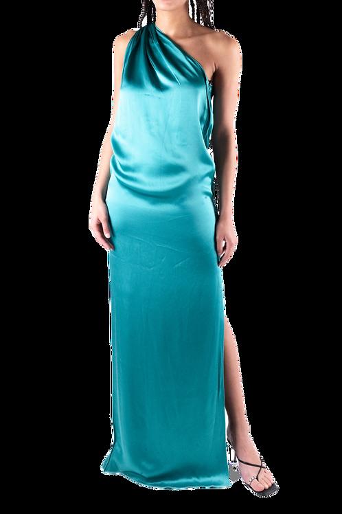 LANVIN émeraude silk dress