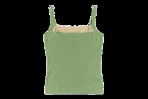 VALENTINO green cashmere and silk top