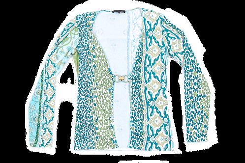 CAVALLI buckle leopard cardigan