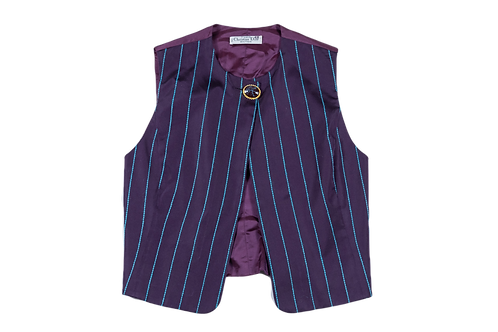 DIOR 'Tyra' purple waistcoat