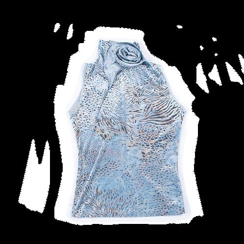 ARMANI blue velvet top