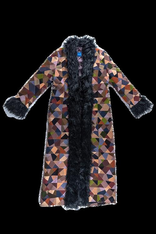 KENZO patchwork long coat