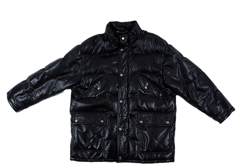 GUCCI men leather puffer jacket