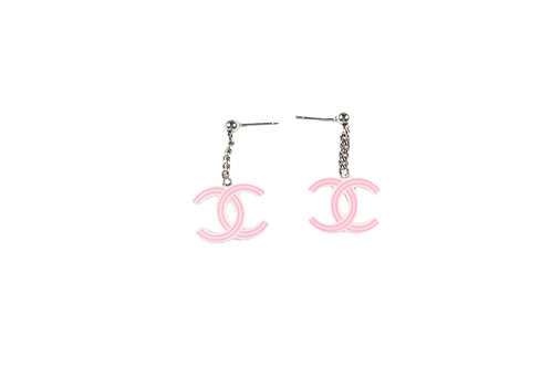 CHANEL pink earrings