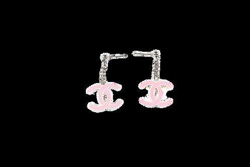 CHANEL pink earrings