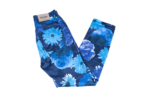 KENZO flower satin pants