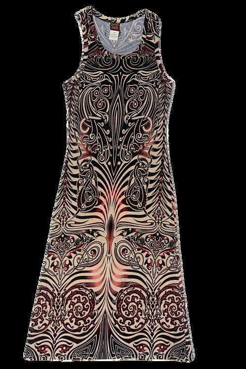 JEAN PAUL GAULTIER long print dress