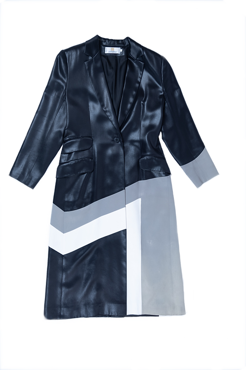 GIVENCHY couture long satin coat