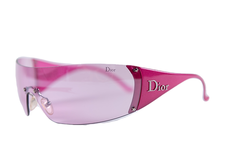 DIOR pink sunglasses removable visor
