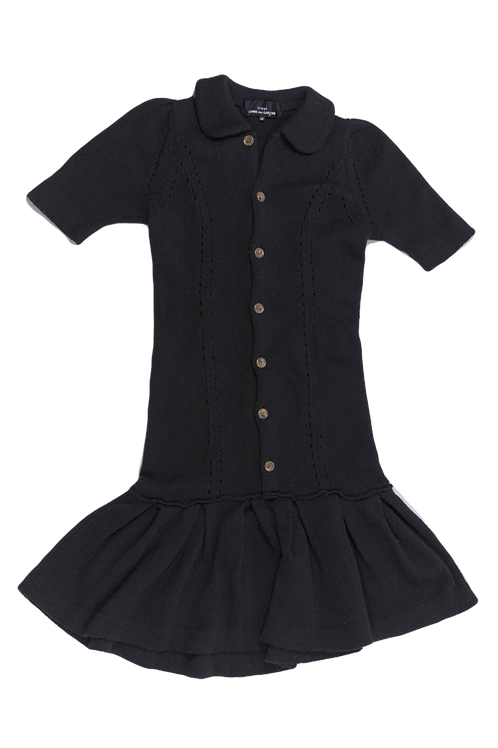 COMME DES GARCONS tricot black dress