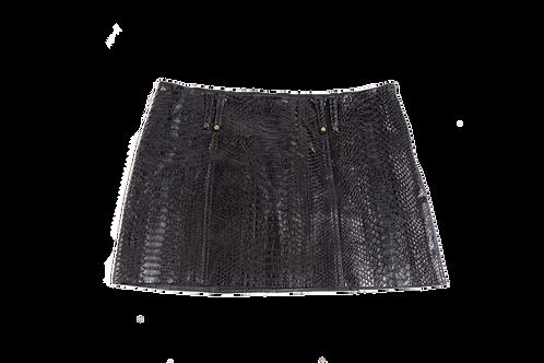 PLEIN SUD python mini skirt