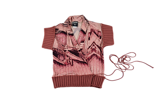 GAULTIER printed cache coeur