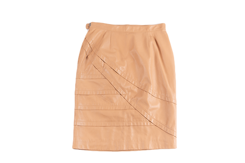 DIOR nude leather skirt
