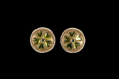 YSL clips flower earrings
