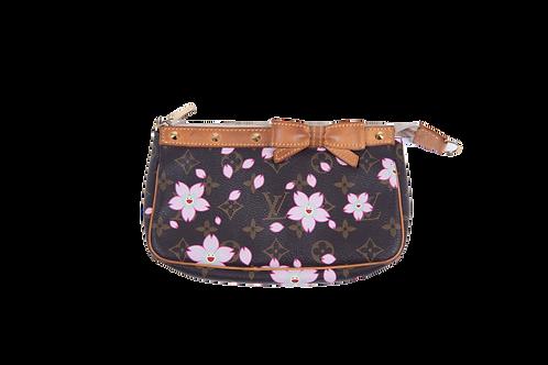 LOUIS VUITTON Takashi Murakami cherry blossom pochette