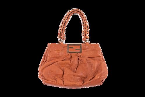FENDI orange canvas zucca bag