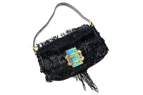 FENDI beads and snakeskin baguette