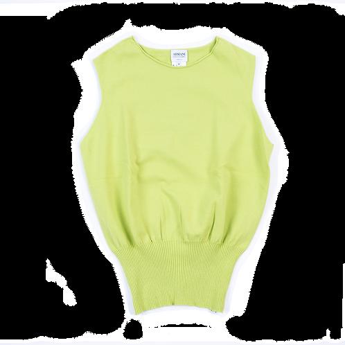 ARMANI green sleeveless top
