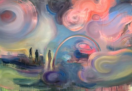Memory Alpha, oil on canvas,  56%22 x  7