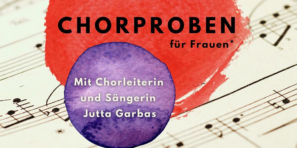 Chorprojekt bei Frauenkreise - mit Chorleiterin und Sängerin Jutta Garbas