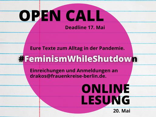 #FeminismWhileShutdown.              Eure Texte zum Alltag in der Pandemie