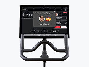The interface of the Peloton bike